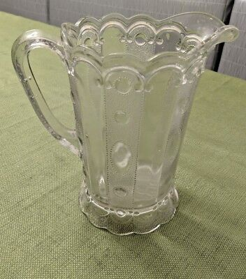 """Victorian  Glass  Pitcher - 8"""" by 8"""" Unusual & Beautiful"""