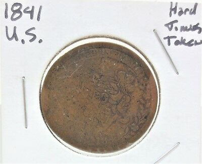 Antique 1841/1837 US Hard Times Bentonian Currency Mint Drop Token Coin Free S/H