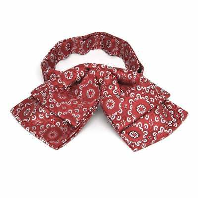 TieMart Red Emma Floral Pattern Floppy Bow Tie