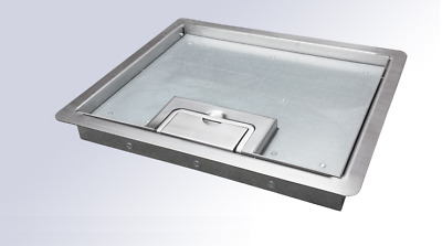 SSL12R296-ST0296 Stainless Steel Lid for floor socket FB3s / FESB (12mm recess)