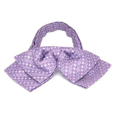 TieMart Thistle Purple Marie Square Pattern Floppy Bow Tie