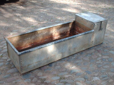 Large Vintage Rustic Riveted  Trough / Garden Planter