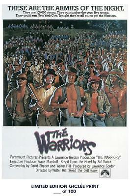 Giclee Art Print Poster 18x12 Inch The Warriors VIntage Art 02