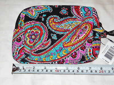 Nwt Vera Bradley Medium Cosmetic Bag Case In Parisian Paisley Print 14549 340