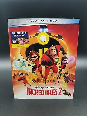 Disney's The Incredibles 2 (Blu-ray/DVD, 2018, 3-Disc Set) Perfect Condition