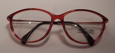 Vintage Silhouette SPX M1841 Cherry 55/14 Eyeglass Frame New Old Stock #280