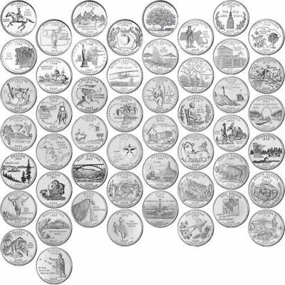 1999-2008 Us State Quarters Complete Uncirculated Collectible Set 50 Coins Gift