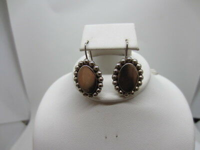 Vintage Mexico 925 Sterling Silver Oval Engravable Earrings 9 grams