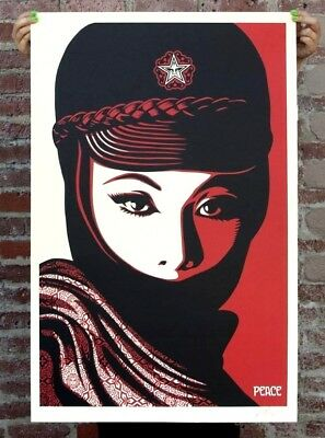 🔥SIGNED Shepard Fairey MUJER FATALE Original Art Print Poster Obey Giant 24x36