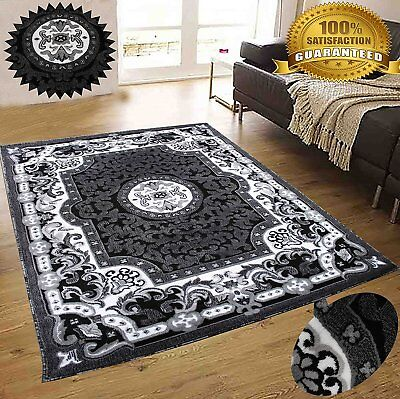 Modern Rug Contemporary Area Rugs Gray black 8x10 Abstract Carpet Colorful Rugs