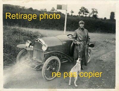 Reprint Photo vintage Very nice Cyclecar antique wheel son brand determined