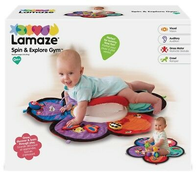 Tomy Lamaze LC27100 Baby Toy Tummy Play Spin /& Explore Garden Theme Gym Red New