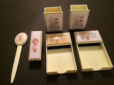 Betsey Clark Lot Hallmark Desk Set Notepad Pencil Holder Stapler Letter Opener