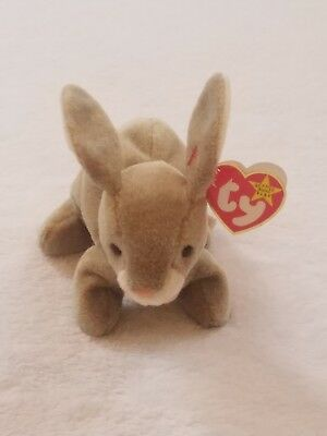 Ty Beanie Baby 1998 NIBBLY The Bunny Rabbit Stuffed Plush Toy