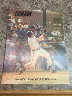 free shipping c41bf 66d73 1988 Kinston Indians Program Minor League vs Prince William Yankees