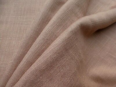 Mid Century Modern VINTAGE Fabric Beige Pink Blush Natural Weave Cotton Rayon