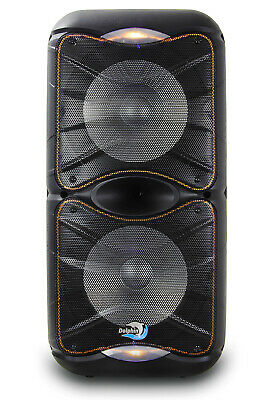 "Dolphin SP-212RBT Rechargeable Bluetooth Party Speaker System Dual 12"" 3600 Watt"
