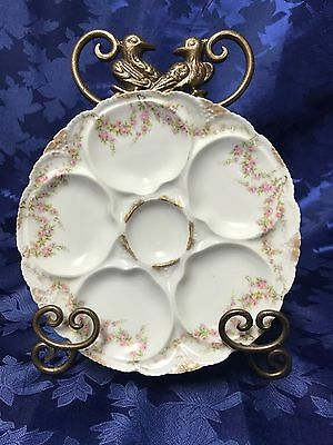 Beautiful Rare Antique French Oyster Plate