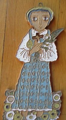 St. Andrews Abbey Saint Hand Made Clay Piece