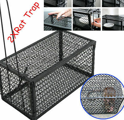 2X Professional Rodent Animal Mouse Live Rat Trap Spring Cage Control Catcher