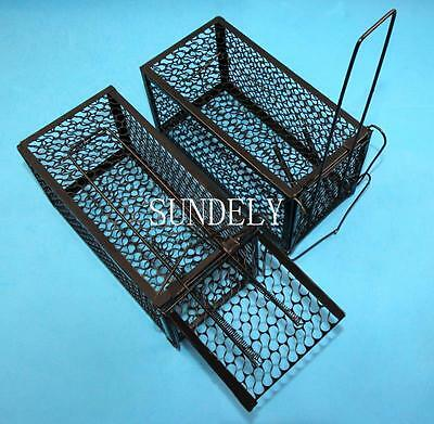 UK NEW 2X Indoor Outdoor Rat Catcher Spring Cage Trap Humane Live Animal Rodent