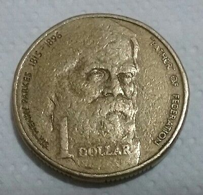1996 $1 Henry Parkes Federation Circulated 1dollar coin.