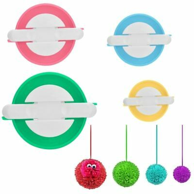 4 Sizes Wool Tool Ball Weaver Needle Craft DIY Ball Pompom Maker Knitting Loom