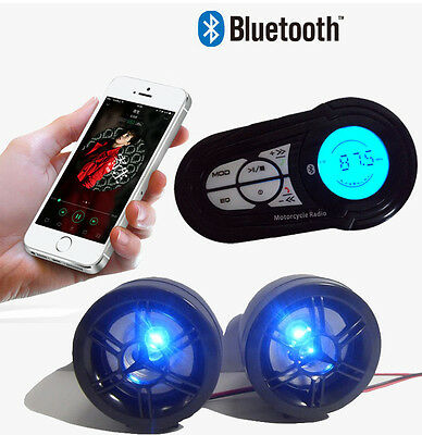 Bluetooth Wireless Speaker Audio System Stereo MP3 Radio ATV UTV Scooter Quality