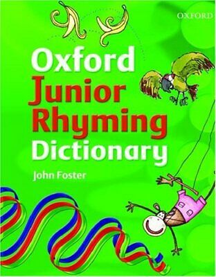 JUNIOR RHYMING DICTIONARY by Foster, John Hardback Book The Cheap Fast Free Post
