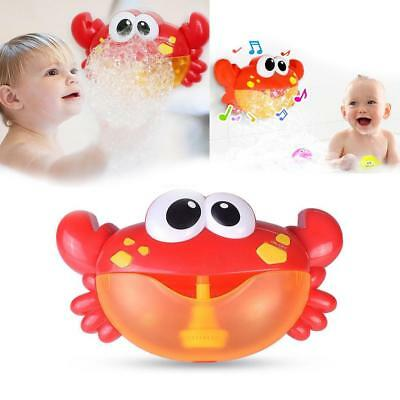 Bubble Machine Crab Frog Automatic Bubble Maker Blower Music Baby Bath Toys Gift