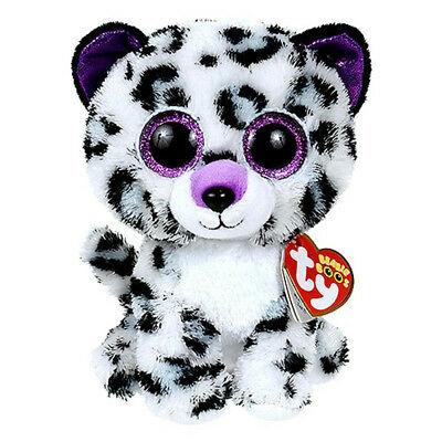 """Ty Beanie Boos 6"""" Violet Leopard Claire's Exclusive Plush Stuffed Animals Toys"""