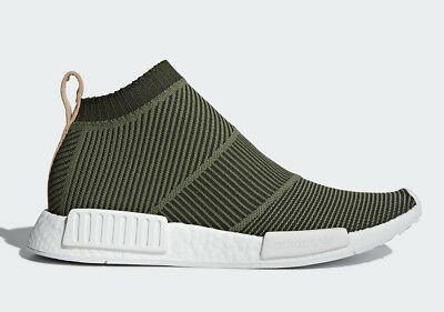 df894cc98 Adidas Originals Nmd CS1 Pk Primeknit Boost Night Cargo Tan Leather Men  B37638