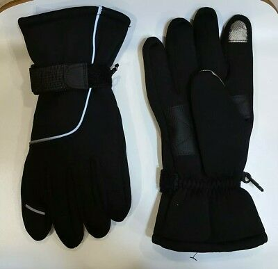 Men's Winter Thinsulate 3M Snow Gloves Black Touch Screen-Friendly Gloves AB