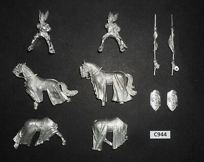 Warhammer Lord of The Rings LOTR Metal MOUNTED KNIGHTS OF DOL AMROTH X2 C 944