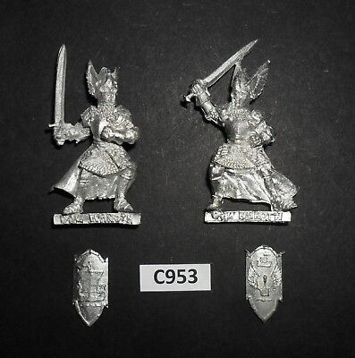Warhammer Lord of The Rings LOTR Metal KNIGHTS OF DOL AMROTH ON FOOT x2 C 953