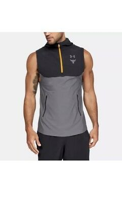 a5dd05c608d28f UNDER ARMOUR PROJECT Rock Vanish Sleeveless Hoodie Vest Black Gray ...