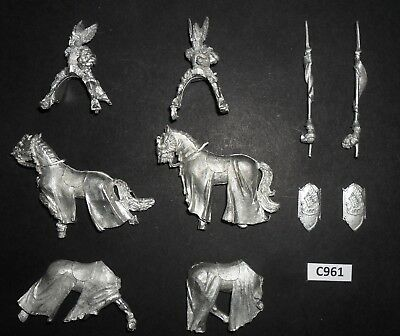Warhammer Lord of The Rings LOTR Metal MOUNTED KNIGHTS OF DOL AMROTH X2 C 961