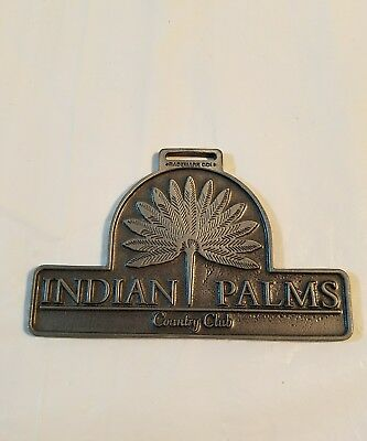 Vintage  Golf Bag Tag From The Indian Palms Country Club