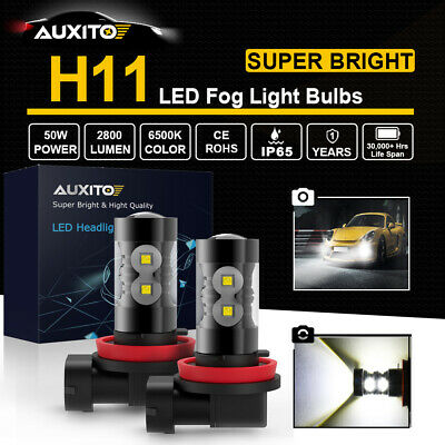 2x H11 H8 H9 H16JP 100W CREE LED Fog Lamp Driving Bulb DRL 6000K White Projector