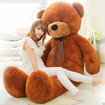 Huge Soft Giant Big Plush Dark Brown Teddy Bear Doll 200cm Toys Kids Xmas Gift