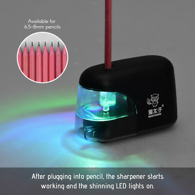 Electric Automatic Pencil Sharpener School Stationery Battery Operated LED C2Q8
