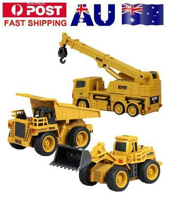 Remote Control Bulldozer Dump Truck Toy RC Crane Construction Car Kids Gift