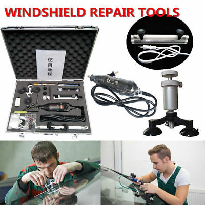 Professional Windshield Repair Kit Auto Glass Repair System Chip Crack Tool Set