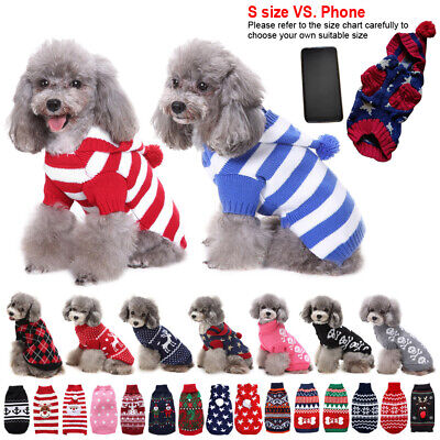 Small Jumper Pets Dogs Sweater Puppy Cat Winter Clothes Knitwear Coat Apparel