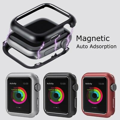 Series 4 3 2 1 38 40 42 44mm Magnetic Metal Case Cover for Apple Watch iWatch
