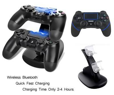 Wireless Bluetooth Controller Gamepad & Fast Quick Charging Station for Sony PS4