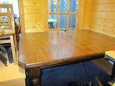 Large Victorian Antique Mahogany Wind Out Extendable Table  2 Leaves