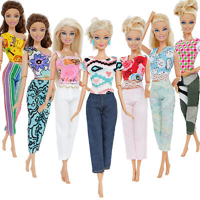 """Lot Color Outfits Top Pants Accessories Clothes For 12"""" Barbie Doll Xmas Gift"""