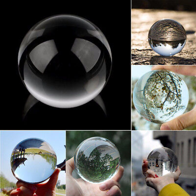 Clear Glass Crystal Ball Healing Sphere Photography Props Lensball Decor NEW