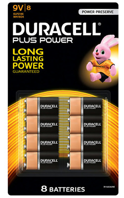 Duracell 9V MN1604 DURALOCK Alkaline Battery Energizer Coppertop brand new
